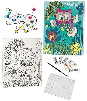Bilder für kinderzimmer auf leinwand selber malen mädchen  Bastelset zum Malen - Leinwand / Canvas Bild -