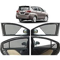 Autofact Half Magnetic Window Sunshades/Curtains for Toyota Innova New Crysta (Set of 6pc, Black)