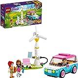 LEGO Friends L'Auto Elettrica di Olivia, Macchinina Giocattolo per Bambini di 6 Anni, Set con 2 Mini Bamboline, 41443