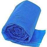 Gre CPERT84 - Cubierta de Verano para Piscina Enterrada Rectangular de 800 x 400 cm, Color Azul