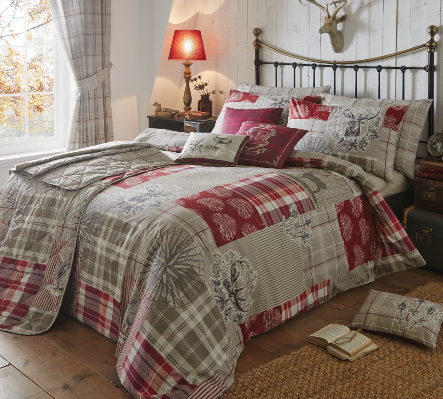Tatton Patchwork' Single Duvet Cover Set in Heather, Includes: 1x ... : patchwork quilt covers - Adamdwight.com