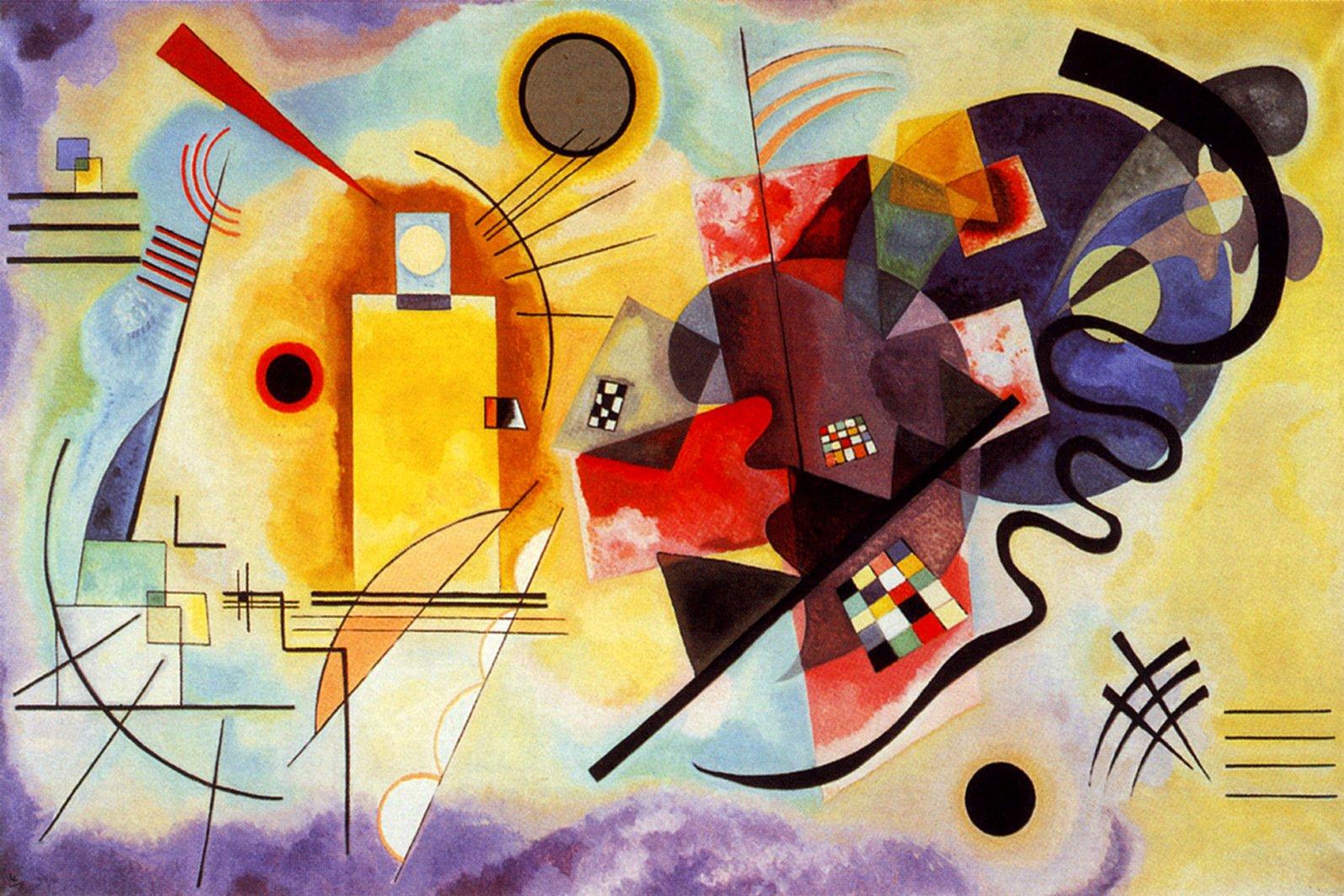 Legendarte P-273 Vassily Kandinsky, Tela e Legno, Multicolore, 60x90x4 cm