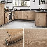 Film autocollant pour meubles en bois - 61 x 500 cm - En PVC - Pour mur, cuisine, meubles - Type A