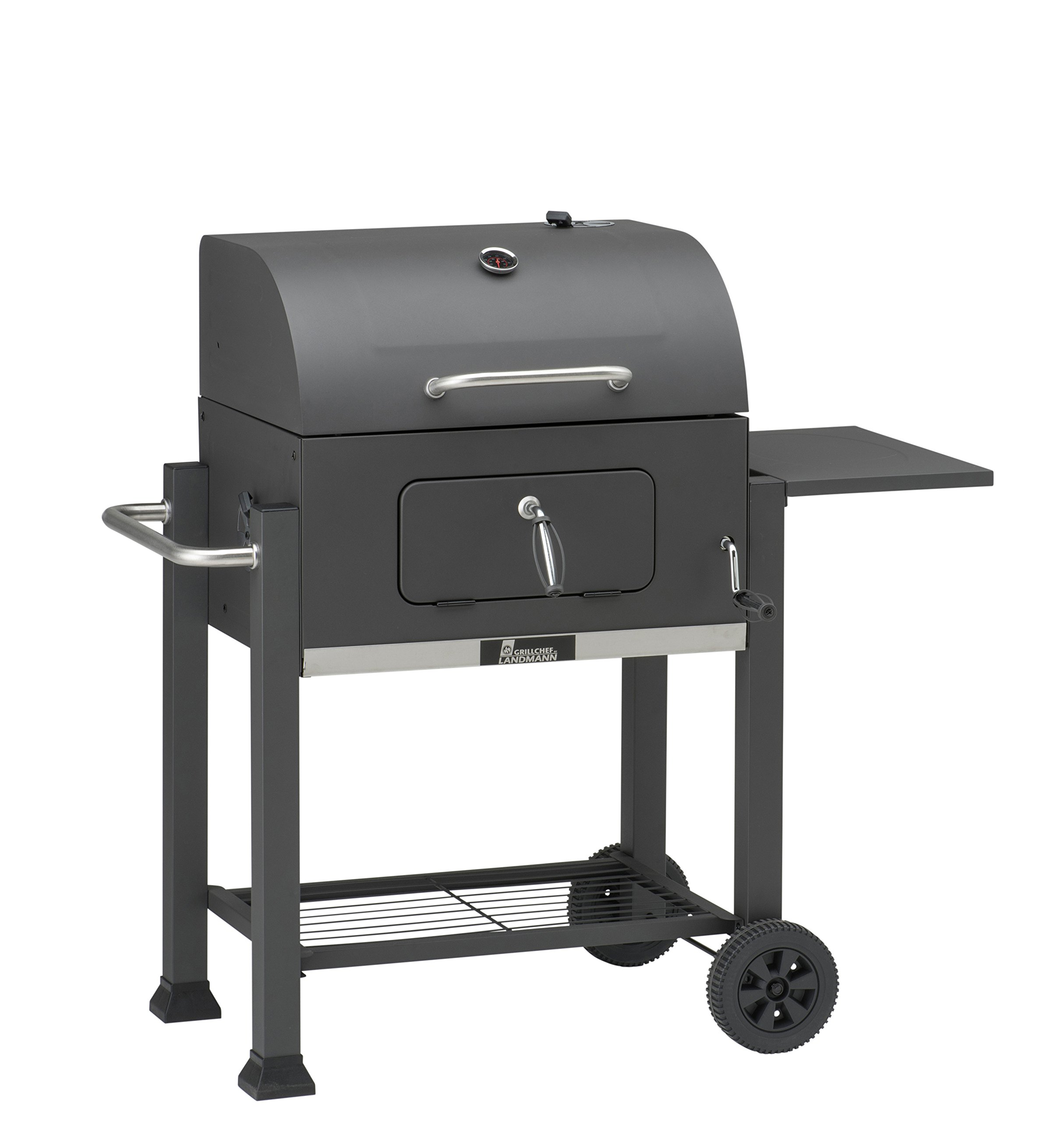 GrillChef Comfort charcoal grill cart, black
