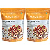 Nutty Gritties Sports Mix - Roasted Almonds, Cashews, Pistachios, Dried Blueberries, Cranberries and Raisins - (Pack of 2 x 3