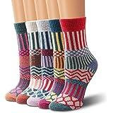 Moliker Chaussettes en laine, chaussettes femme chaussettes hiver vintage doux chaud pour hiver