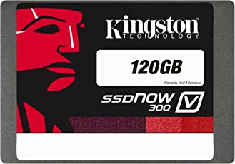 Kingston SV300S37A/120G SSDNow V300 interne SSD-Festplatte 120GB (6,4 cm (2,5 Zoll) SATA III) schwarz