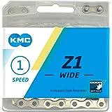 KMC Unisex Z1 brede ketting, zilver, 112 Link