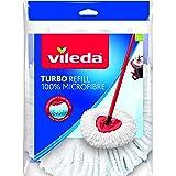 Vileda Recharge Classique pour Turbo et Easy Wring & Clean, Microfibres, Blanche