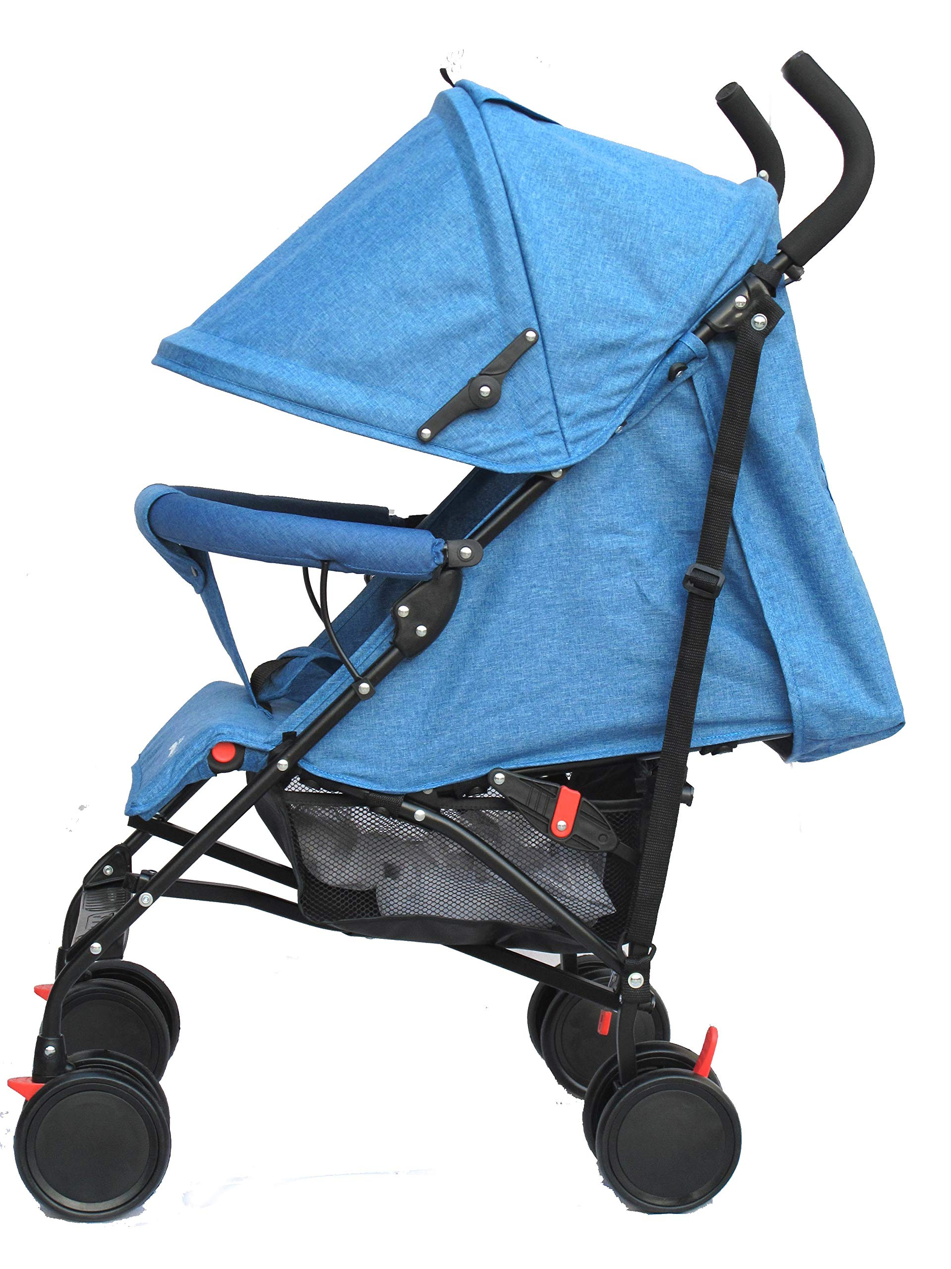 Stroller for Kids Lightweight Buggy Easy Fold Travel Stroller Buggy Foldable for Travel (Blue) Little Bambino ✨Extendable upf 50+ sun canopy and built-in sun visor ✨EASY USAGE - One-hand foldable buggy makes taking your baby for travels or walks a simple pleasure. It could stand on its own so you could take care of your baby with less things to worry about. ✨ADJUSTABLE BACKREST - Travel stroller backrest can be adjusted. Suitable for children from 0 to 36 months 3