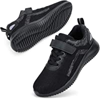 STQ Kids Trainers Boys Girls Low Top Sneakers Comfortable Hook-Loop Outdoor Children Running Sports Shoes