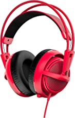 SteelSeries Siberia 200, Gaming Headset, Retractable Mic, Software Management, (PC/Mac/Playstation/Mobile) - Forged Red - [Edizione: Regno Unito]