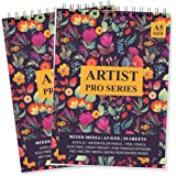 Paper Plane Design Artist Sketch Book 100 Pages (50 Sheets) Perforated 140 GSM Craft Book (Purple, A5 Pack of 2)