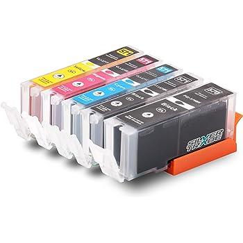 5x compatible cartouches d 39 encre avec puce pour canon cli 571xl pgi 570xl pour canon pixma. Black Bedroom Furniture Sets. Home Design Ideas