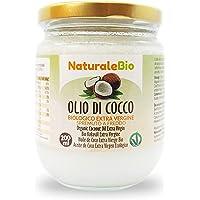 Olio di Cocco Biologico Extra Vergine 200 ml. Crudo e Spremuto a Freddo. 100% Organico, Naturale e Puro. Bio Nativo e…
