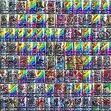 110-delige Pokemon-kaartenset, Cartoon Game Card GX-ruilkaarten voor kinderen met 95 GX Pokemon-kaarten en 5 Mega Pokemon-kaa