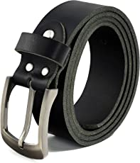 Fa.Volmer Schwarze Ledergürtel aus Büffelleder, 38mm breit und ca. 3-4mm stark, kürzbar #10125
