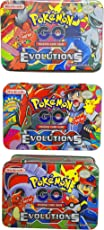 Magicwand High Gloss Paper 2018 Evolutions Series PokÂMon's Go Trading Cards with Free Metal Box - Pack of 42 (Multicolour)