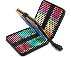 72 Crayon de Couleurs Professionnel, Trousse de Transport Zenacolor - 72 Crayons de Couleurs Livre Coloriage et Mandala Adult