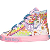 Lelli Kelly Unicorno Sneakers Alta Tela con Zip Laterale