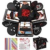 Explosion Box, WisFox Creativo Fai Da te a Sorpresa Esplosione Regalo Scatola Amore Memoria, Scrapbooking Photo Album Gift Bo