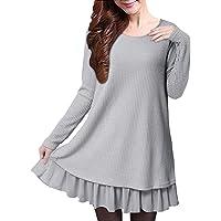 ZANZEA Donna Maglione Camicetta Maglie Pullover Donna Top Lungo Vestitino Invernale Camicetta Corto Elegante Casual Moda…