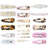 Adramata 20 Pezzi di Perle Fermagli per Capelli per Donna Forcine Oro Mollette Marmorizzate Accessori per Capelli in…
