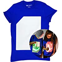 Illuminated Apparel Interactive Glow in The Dark T-Shirt - Fun for Birthday Parties & Festivals - Light up The Night