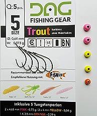 pro-bite Tungsten und Haken der Firma FishUp mit Öhr in der Größe 5