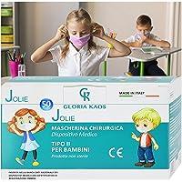 50 Kindermasken CE-zertifiziert in 5 Packungen mit 10 Stück (rosa)