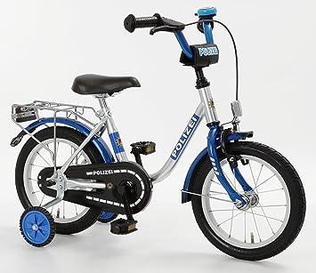 bachtenkirch kinder fahrrad polizei silber blau 12 5. Black Bedroom Furniture Sets. Home Design Ideas