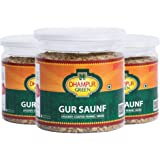 Dhampure Speciality Jaggery Coated Fennel Seeds Mouth freshener / Gur Saunf Mukhwas, 750g (Pack of 3 Each 250g)