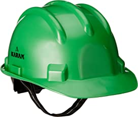 Karam Safety Helmet PN521 SHELMET RATCHET TYPE WITH PLASTIC CRADLE, Pack of 5, Green