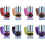 Beromt Holographic Nail Polish COMBO OF 8-502,503,504,505,506,508,509,510
