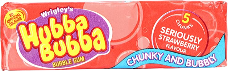 Wrigley's Hubba Bubba Seriously Strawberry Bubble Gum (Pack Of 3), 35g