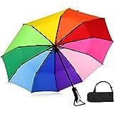 Ombrello a forma di stella, diametro 98 cm, arcobaleno, automatico