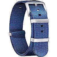 BINLUN Bracelet de Montre en Nylon Militaire NATO Remplacement Bracelet Montre avec Boucle en Acier Inoxydable Hommes…