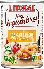 LITORAL Hoy Legumbres Plato Preparado de Garbanzos en su sofrito, Sin Gluten, 440g