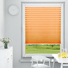 OUBO Plissee Klemmfix Jalousie ohne Bohren Sichtschutz Klemmträgern für Fenster