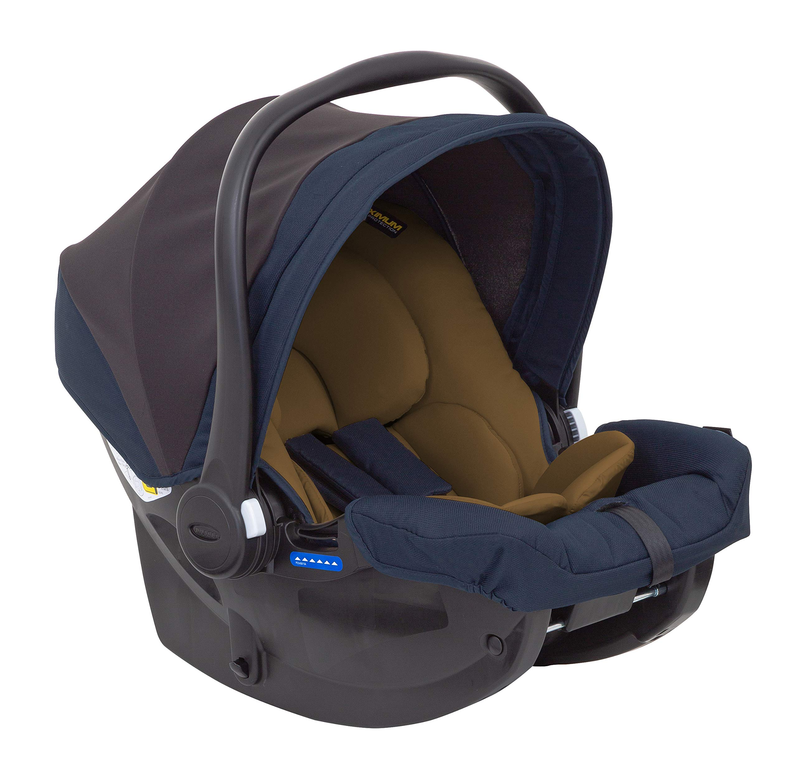 Graco Breaze Lite i-Size Travel System, Eclipse Graco From birth to 3 years approx. (0-15kg) Travel system package with snug essentials isize infant car seat included Lightweight stroller at only 6.5kg 5