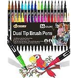 36 Colores con Rotuladores Lettering, Rotuladores Punta Pincel Acuarelables Marcadores para Adultos, Bullet Journal, Caligraf