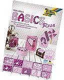 folia 46349 - Motivblock Basics, ca. 24 x 34 cm, 30 Bogen sortiert, rosa