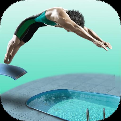 Sportliche Grafik (Diving Board 3D - Springboard Pro)