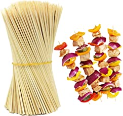 HOKIPO® Bamboo Skewer Stick Set, 10 inches (90-100 Sticks Approx)