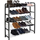 KEPLIN 5 Tier Shoe Rack Organiser, Heavy duty storage unit, Quick Assembly No Tools Required, Holds upto 15-20 pairs (L…