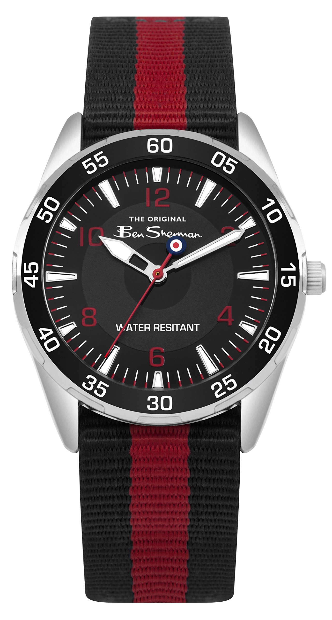 Ben Sherman Boys Analogue Quartz Watch with Nylon Strap BSK003RB G