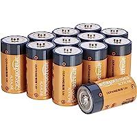AmazonBasics Piles alcalines C 1,5 V pour le quotidien - Lot de 12 (le visuel peut différer)