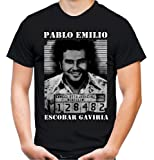 Pablo Escobar Männer und Herren T-Shirt   Mugshot Narcos Kolumbien
