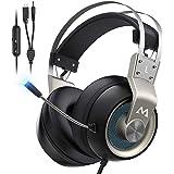 Mpow EG3 Pro Auriculares Gaming para PS4/PC/Xbox One/Switch/Mac, LED Auriculares para Juegos, Sonido Envolvente Virtual 7.1,