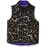 Marca Amazon - Spotted Zebra Reversible Plush Vest Niñas